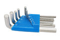 Hex key set the ten one pack Stock Images