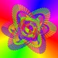 Hex Rainbow Background