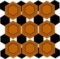 Hex wallpaper pattern Royalty Free Stock Image