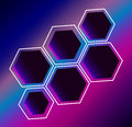 Hexagon abstract composition background