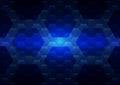 Hexagon abstract technology background illustration.