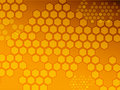 Hexagon background Stock Photography