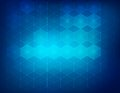 Hexagon background a blue vector illustration Stock Photo