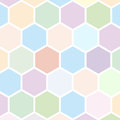 Hexagon background pattern or texture Stock Images