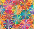 Hexagon big ray colorful seamless pattern