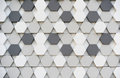 Hexagon black white pattern Stock Photos