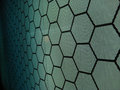 Hexagon closeup from a lightpanel with shapes Stock Photography