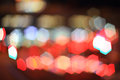 Hexagon colorful bokeh shape city at night Royalty Free Stock Photo