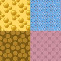 Hexagon design geometric elements honeycombs abstract geometric modern business technologies seamless pattern background