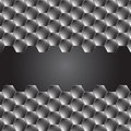 Hexagon metal background with light reflection Royalty Free Stock Photo