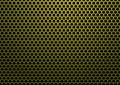 Hexagon metal gold Royalty Free Stock Photo