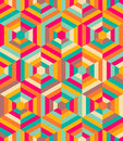 Hexagon mosaic pattern retro style Stock Images