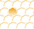 Hexagon orange texture. Pattern. Royalty Free Stock Images