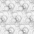 Hexagon pattern Royalty Free Stock Images