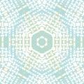 Hexagon pattern white pastel blue green