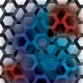 Hexagon rainbow seamless Royalty Free Stock Images