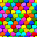 Hexagon seamless pattern. Stock Image