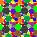 Hexagon seamless pattern extended Royalty Free Stock Photography