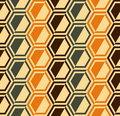 Hexagon seamless pattern - retro colors - vector