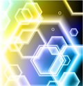 Hexagon Shapes on Colorful Abstract Background Royalty Free Stock Photo