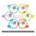 Hexagon star infographic vector illustration of element Stock Photo