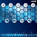 Hexagon style web template design Royalty Free Stock Photo