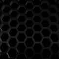 Hexagon texture structure honeycomb vector dark pattern Royalty Free Stock Photography