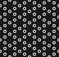 Hexagon texture, vector monochrome seamless pattern, perforated