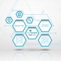 Hexagon web design