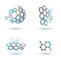 Hexagonal abstract icons, business concepts