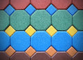 Hexagonal brick flooring background texture Royalty Free Stock Photo