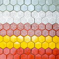 Hexagonal bricks Royalty Free Stock Images