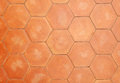 Hexagonal clay tiles Royalty Free Stock Photo