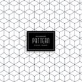 Hexagonal geometric line pattern design