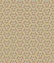 Hexagonal geometrical seamless pattern