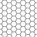 Hexagonal grid seamless texture gray hex on white Stock Image