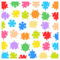 Hexagonal jigsaw puzzle pieces Stock Image