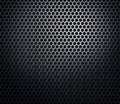 Hexagonal metal honeycomb grid Stock Photo