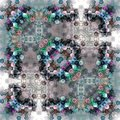 Hexagonal pattern of carpet with square frame Royalty Free Stock Photo