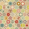 Hexagonal seamless pattern geometric of forms vector ornament of hexagons Stock Photos