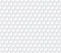 Hexagonal seamless vector pattern. Light gray hexagon with 3d effect Royalty Free Stock Photo