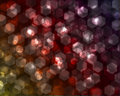 Hexagonal and spherical bokeh Stock Photos