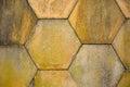 Hexagonal stones very old detail Stock Image