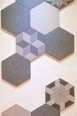 Hexagonal tile mosaic background design Royalty Free Stock Photo