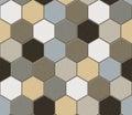 Hexagonal tiles patchwork seamless texture Royalty Free Stock Image