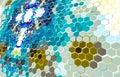 Hexagonal wallpaper HD Background / textured