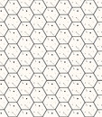Hexagons gray simple seamless pattern