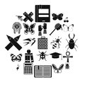 Hexapod icons set, simple style Royalty Free Stock Photo