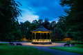 Hexham Bandstand at night Royalty Free Stock Photo