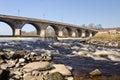 Hexham Bridge and rapids Royalty Free Stock Photo